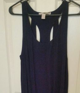 Gently Used Racerback Sheath Navy colored dress